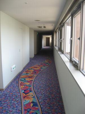 コガノイベイホテルの廊下のじゅうたん.jpg